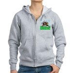 Bassett Hound Party guy!! Women's Zip Hoodie