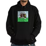Bassett Hound Party guy!! Hoodie (dark)
