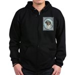 Catahoula Leopard Dog Zip Hoodie (dark)