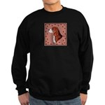 Beagle with pawprints Sweatshirt (dark)