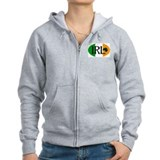 Irish Watercolor Zip Hoody