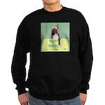 Puppy Boxer in Ear Tapes Sweatshirt (dark)
