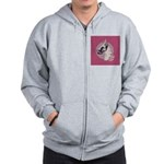 A lovely Harlequin Great Dane Zip Hoodie