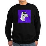 Down Ear Harlequin Great Dane Sweatshirt (dark)