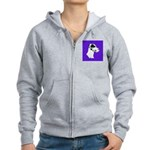 Down Ear Harlequin Great Dane Women's Zip Hoodie