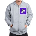 Down Ear Harlequin Great Dane Zip Hoodie