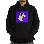 Down Ear Harlequin Great Dane Hoodie (dark)