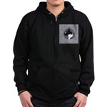 Classic Mantel Great Dane Zip Hoodie (dark)