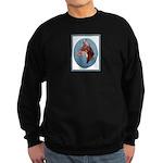 Red Doberman Pinscher Sweatshirt (dark)