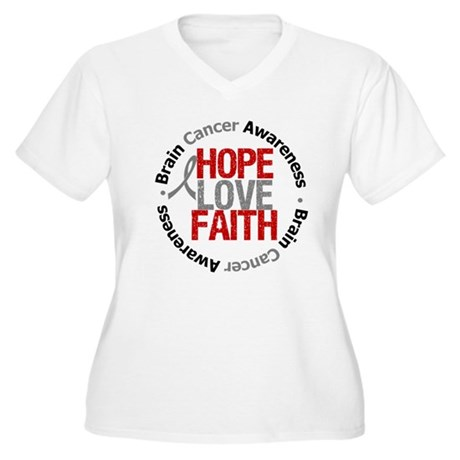 BrainCancerHope Women's Plus Size V-Neck T-Shirt