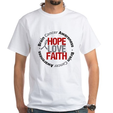 BrainCancerHope White T-Shirt