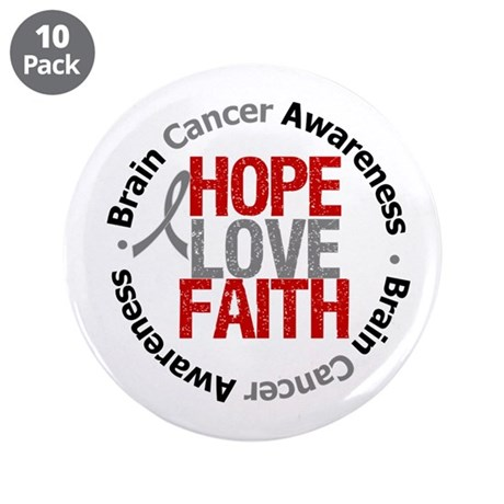 "BrainCancerHope 3.5"" Button (10 pack)"
