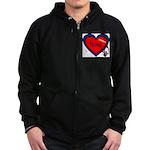 Nurse Heart Zip Hoodie (dark)