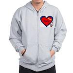 Nurse Heart Zip Hoodie