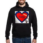 Nurse Heart Hoodie (dark)