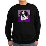 St. Bernard head study Sweatshirt (dark)