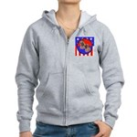 Bull Mastiff Mom & Puppy Women's Zip Hoodie