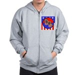 Bull Mastiff Mom & Puppy Zip Hoodie