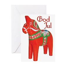 God Jul Dala Greeting Card