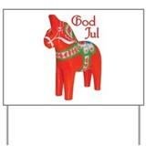God Jul Dala Yard Sign