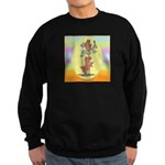 Norwich Terrier & Cat Sweatshirt (dark)