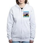 Boston Bull Terrier Women's Zip Hoodie