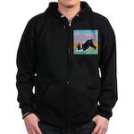 Boston Bull Terrier Zip Hoodie (dark)