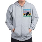 Boston Bull Terrier Zip Hoodie