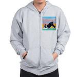 Boston Bull Terrier Zip Hoodie