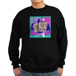 3 Yorkie Puppies Sweatshirt (dark)