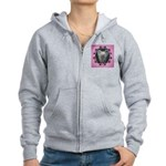 New Chinese Crested Design Women's Zip Hoodie