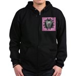 New Chinese Crested Design Zip Hoodie (dark)