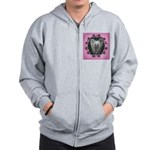 New Chinese Crested Design Zip Hoodie
