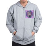 Gray Poodle Zip Hoodie