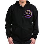 Smiley Swirl Zip Hoodie (dark)