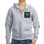 Brindle English Bulldog Women's Zip Hoodie