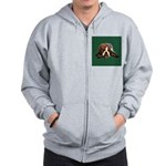 Brindle English Bulldog Zip Hoodie