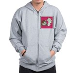 English Bulldog Pair Zip Hoodie