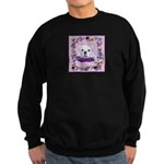 Bulldog puppy with flowers Sweatshirt (dark)