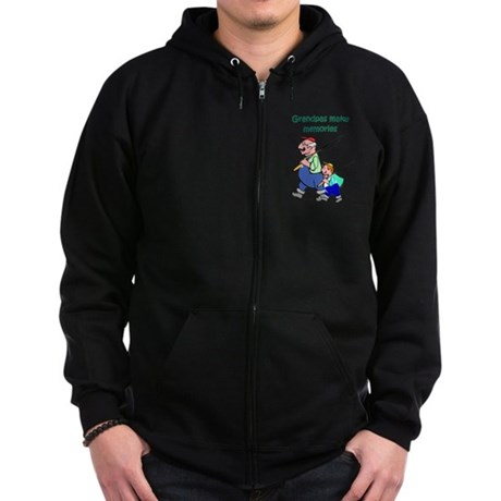 Grandpas Make Memories Zip Hoodie (dark)