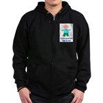I LOVE GRANDPA BOY Zip Hoodie (dark)
