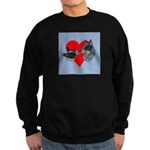 Australian Cattle Dog Kiss Sweatshirt (dark)