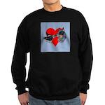 Australian Cattle Dog Kiss Sweatshirt (dark)