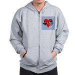 Australian Cattle Dog Kiss Zip Hoodie