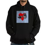 Australian Cattle Dog Kiss Hoodie (dark)