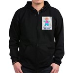 I LOVE POP POP GIRL Zip Hoodie (dark)