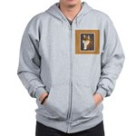Corgi Head Study Zip Hoodie