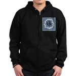 German Shepherd Profile Zip Hoodie (dark)