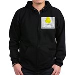 Mom's Little Chick Zip Hoodie (dark)