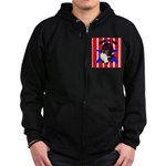 Sheltie - Made in the USA Zip Hoodie (dark)